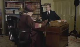 - Good heavens, what am I sitting on? - A swivel chair.