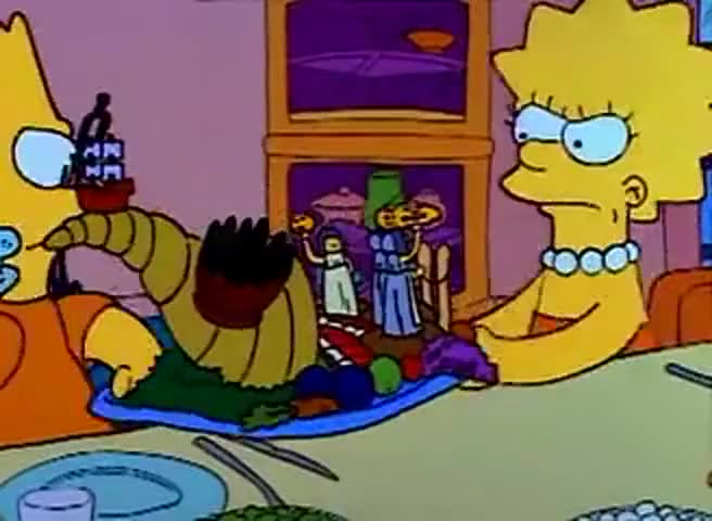 Bart, you're wrecking it! Let go! I worked forever on this!
