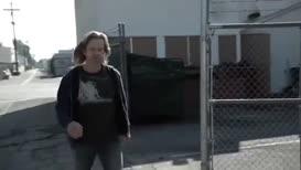 - Hey, faggot.