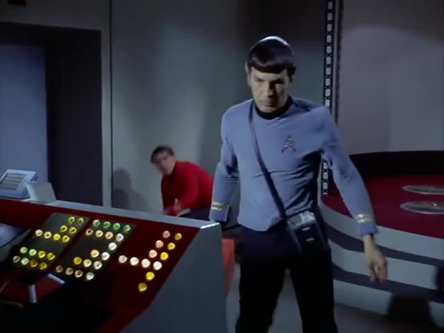 Freeze right there, Mr. Spock...