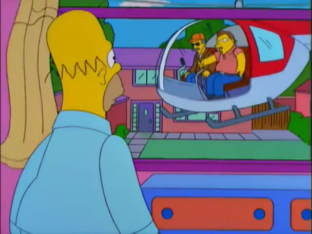 - Wanna go for a ride? - Can I, Marge? Can I?