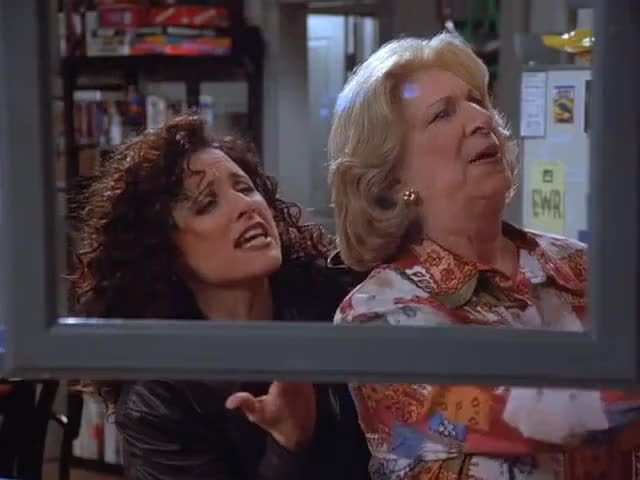Pick a glass, Mrs. Seinfeld.