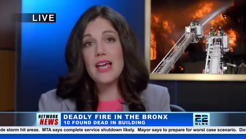 that killed ten people in the Bronx last night during a fire.