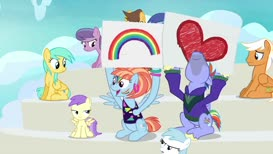 Yeah, Rainbow Dash! You show em! That's our girl!