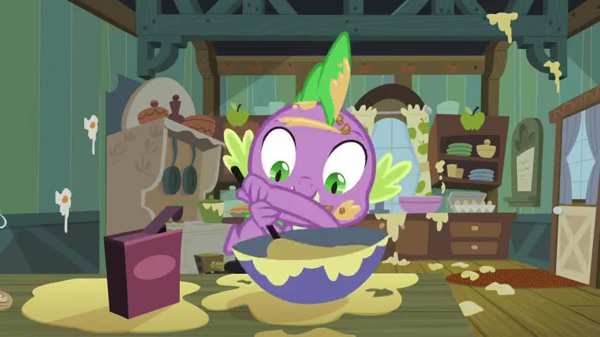 Clip image for 'I'm helping Applejack make some pies!