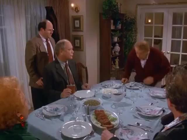 Until you pin me, George, Festivus is not over.
