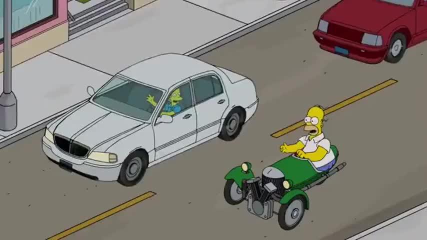 ♪ Chubby dude in a tiny car ♪