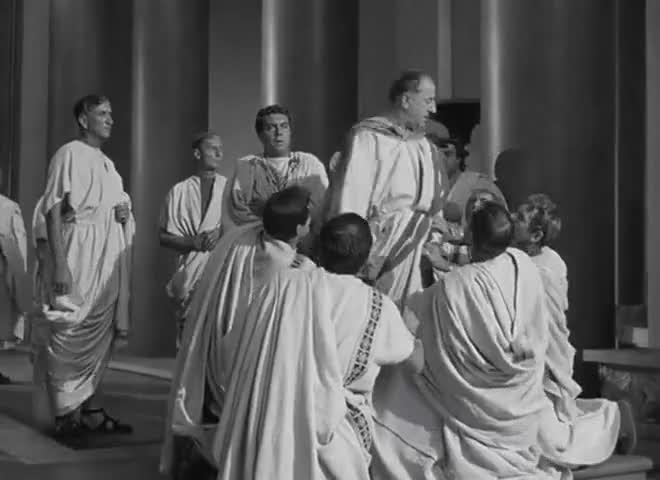 - Doth not Brutus bootless kneel? - Speak, hands, for me!